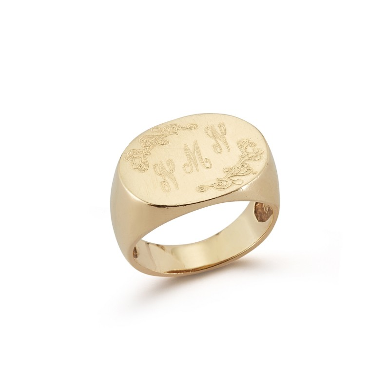 Classic Signet Ring With Signature Engraving