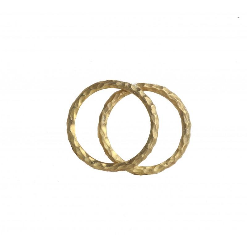 Hammered Gold Bands