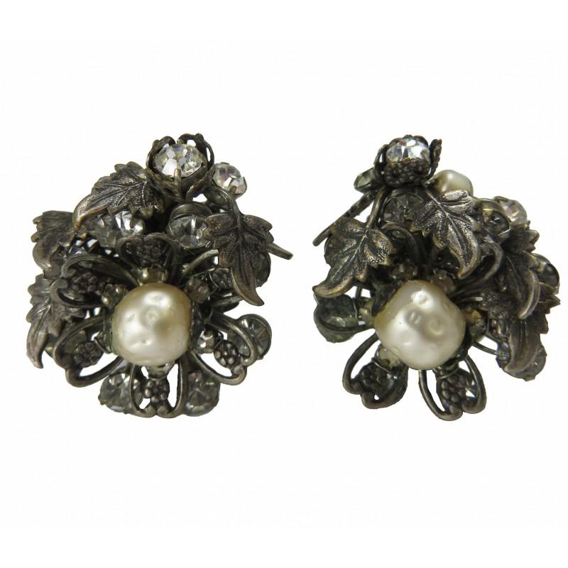 Vintage DeMario Cluster Earrings