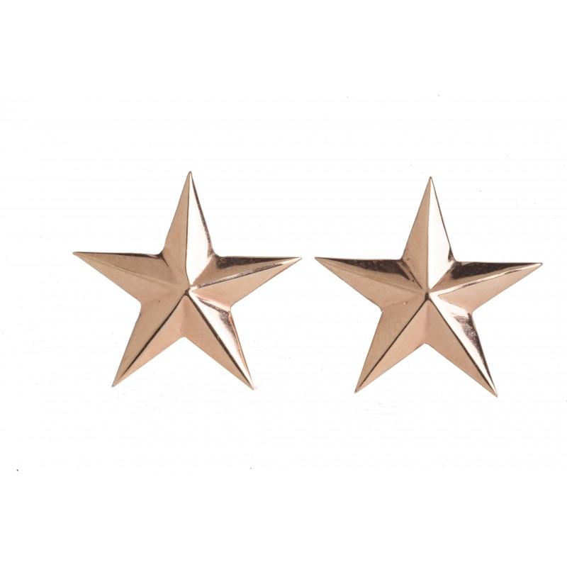 Gold Star Studs Earrings