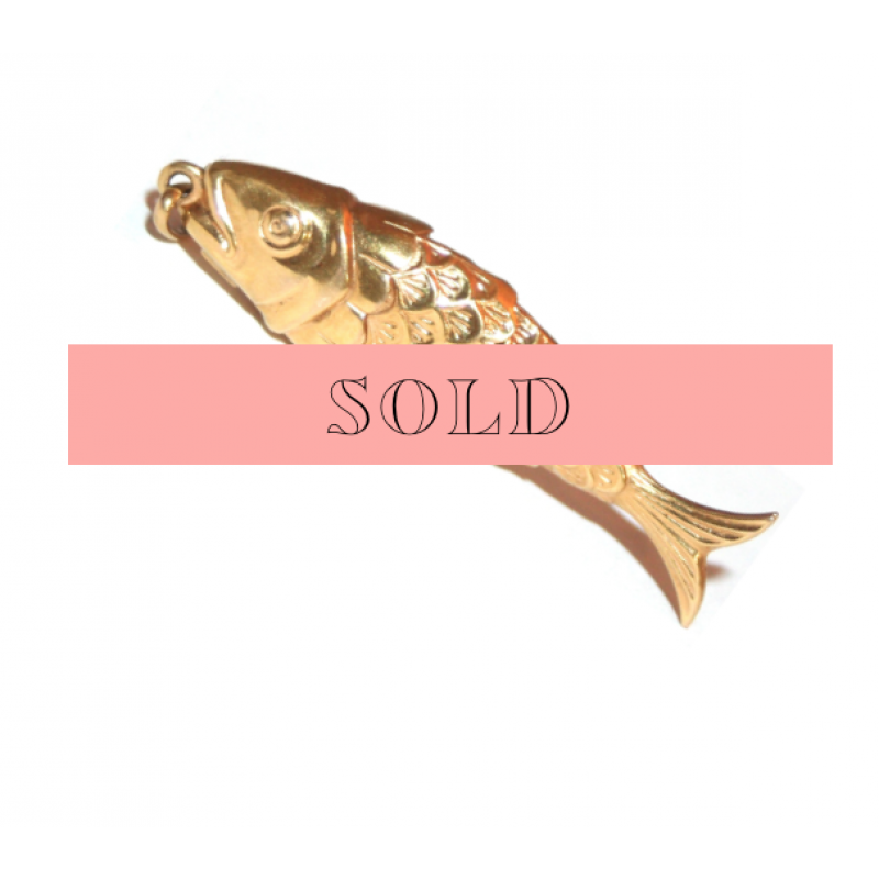 Estate Articulated Fish Charm