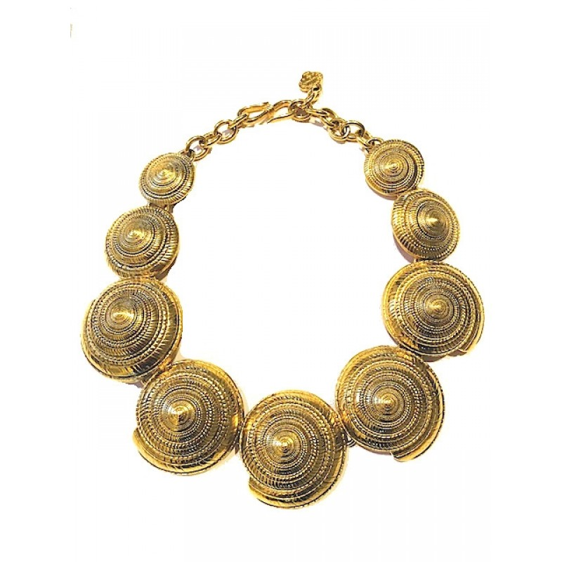 Vintage Yves Saint Laurent Rive Gauche Nautilus Necklace