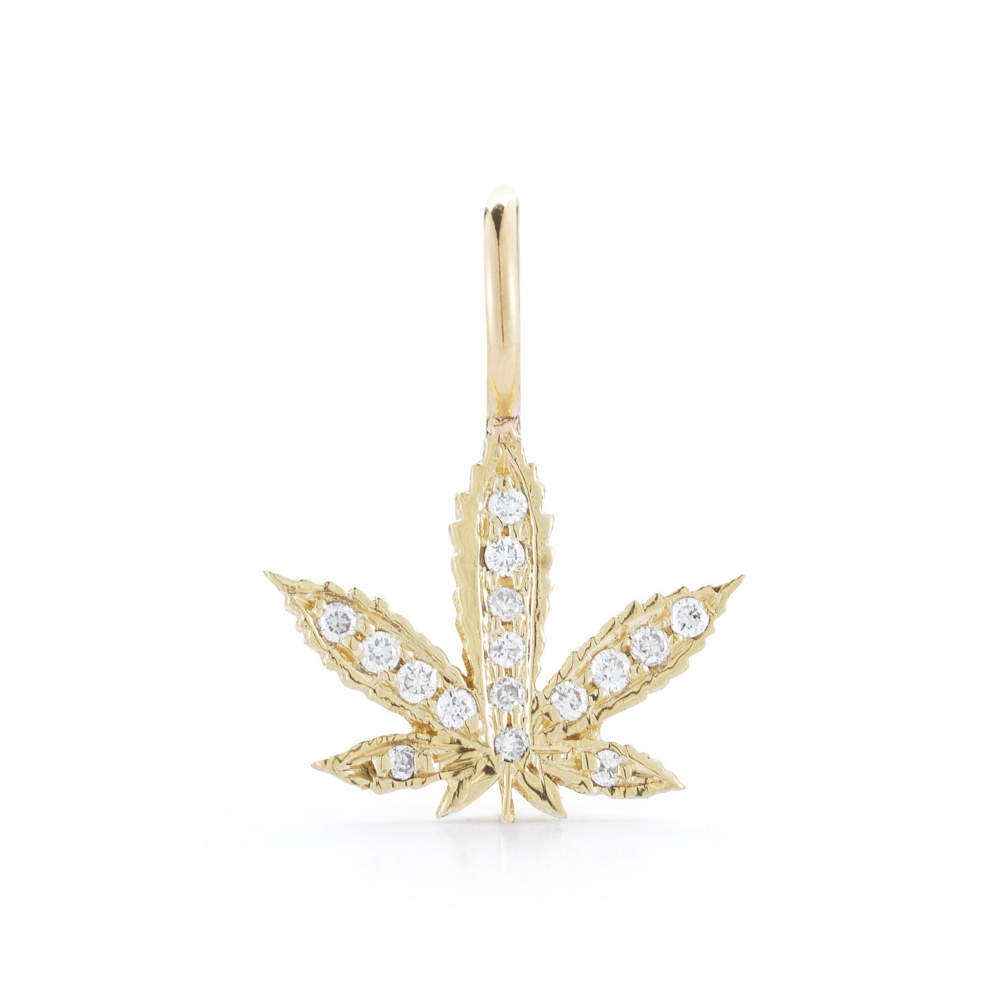 Petite Diamond Cannabis Charm