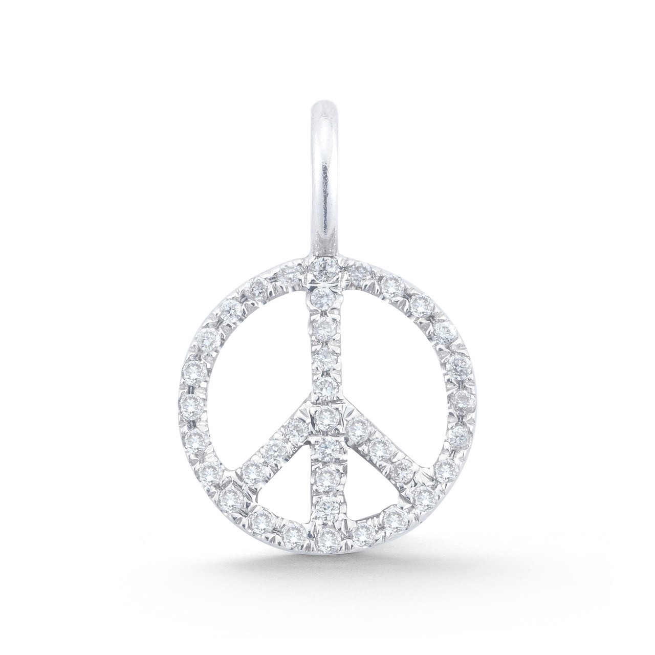Mini Diamond Peace Sign Charm
