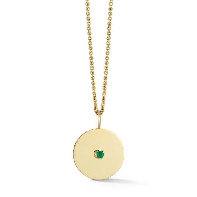 Birthstone Disc Necklace