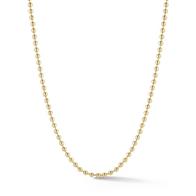Large Solid Gold Ball Chain 3mm