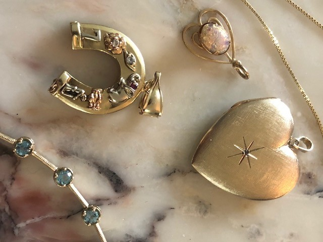 Estate Horseshoe Charm with Good Luck Symbols