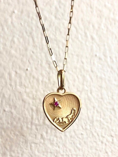 Estate French 18k Etoile d'Amour Heart
