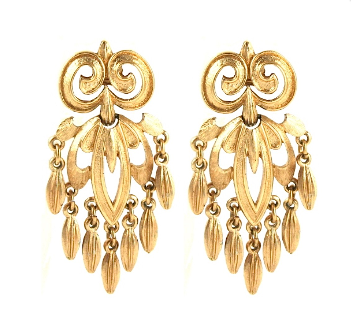 Vintage Monet Chandelier Earrings