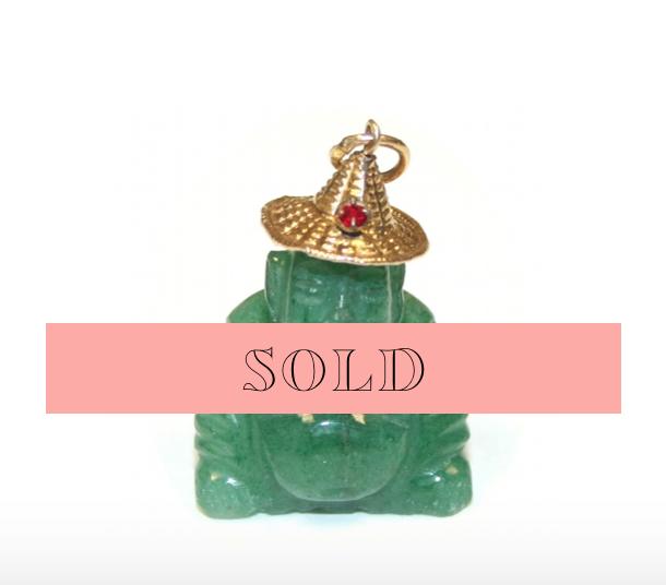 Estate Jade Buddha Charm