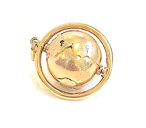Estate Chunky Detailed Globe Charm