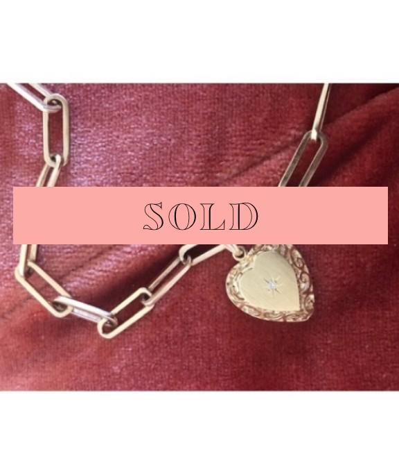 Estate Ornate Diamond Heart Locket