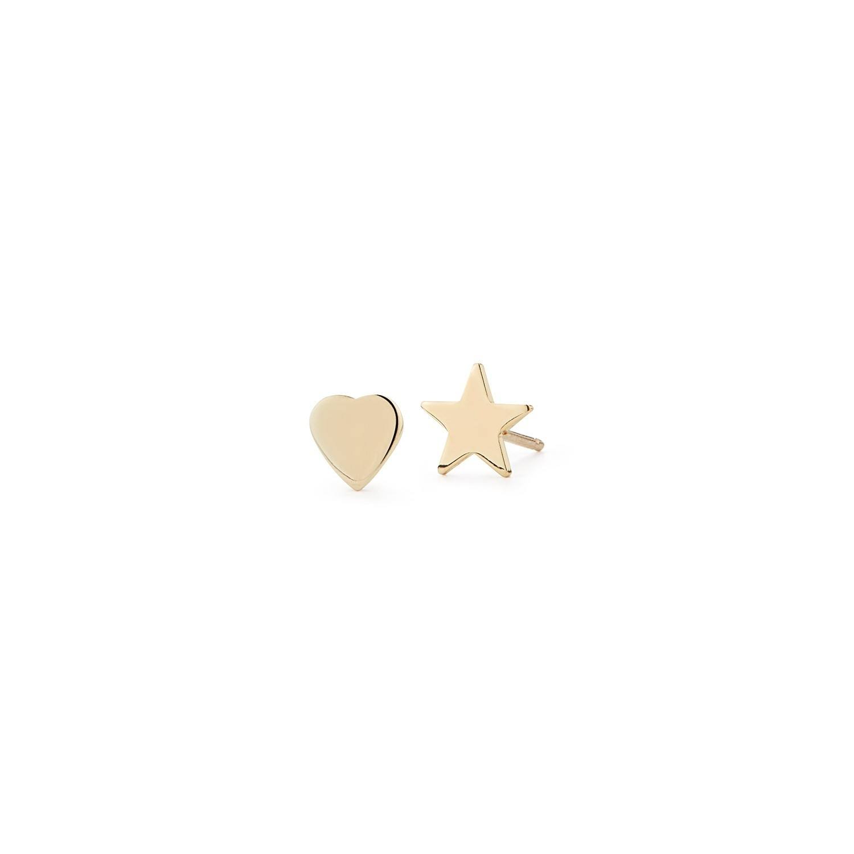 Teeny Heart & Star Stacking Studs