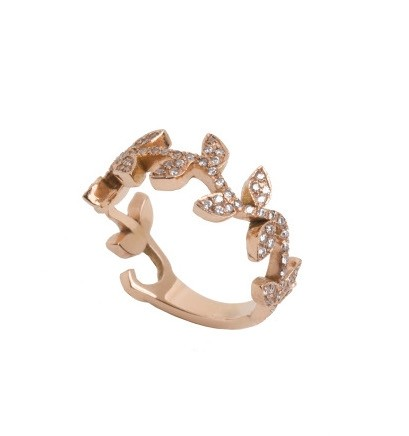 Diamond Vine Band Ring