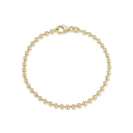 Solid Gold Ball Bracelet