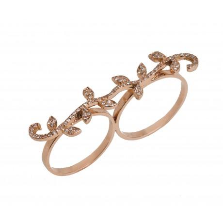 Vine Knuckle Ring