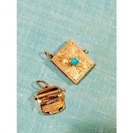 Estate Turquoise Book Locket