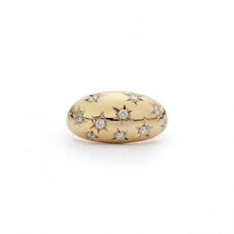 New Diamond Starburst Dome Ring