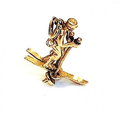 Estate Skier Charm