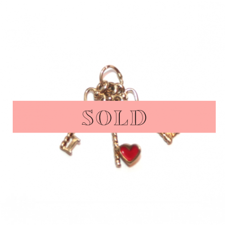 Estate I Heart You Key Charm