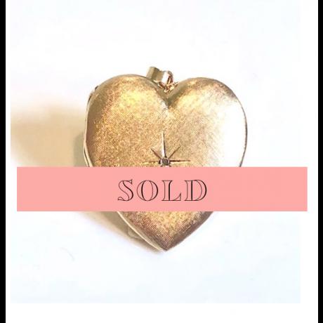 Estate Large Diamond Puffed Heart Locket