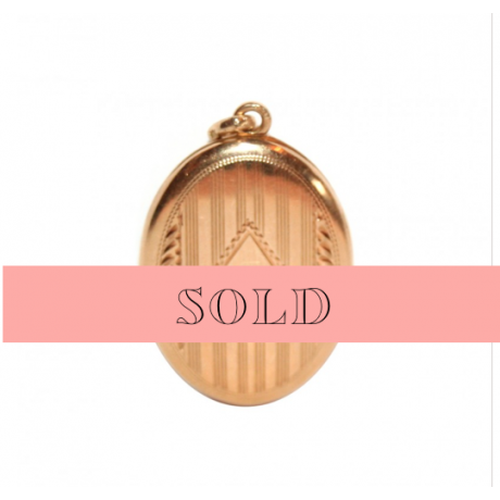 Oval Photo Locket