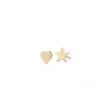 Teeny Heart & Star Stacking Studs