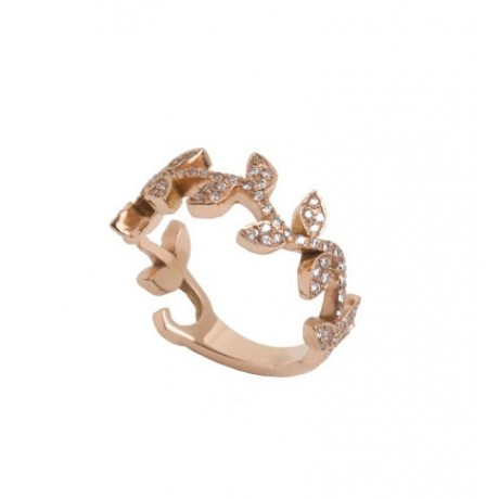 Diamond Vine Band Ring