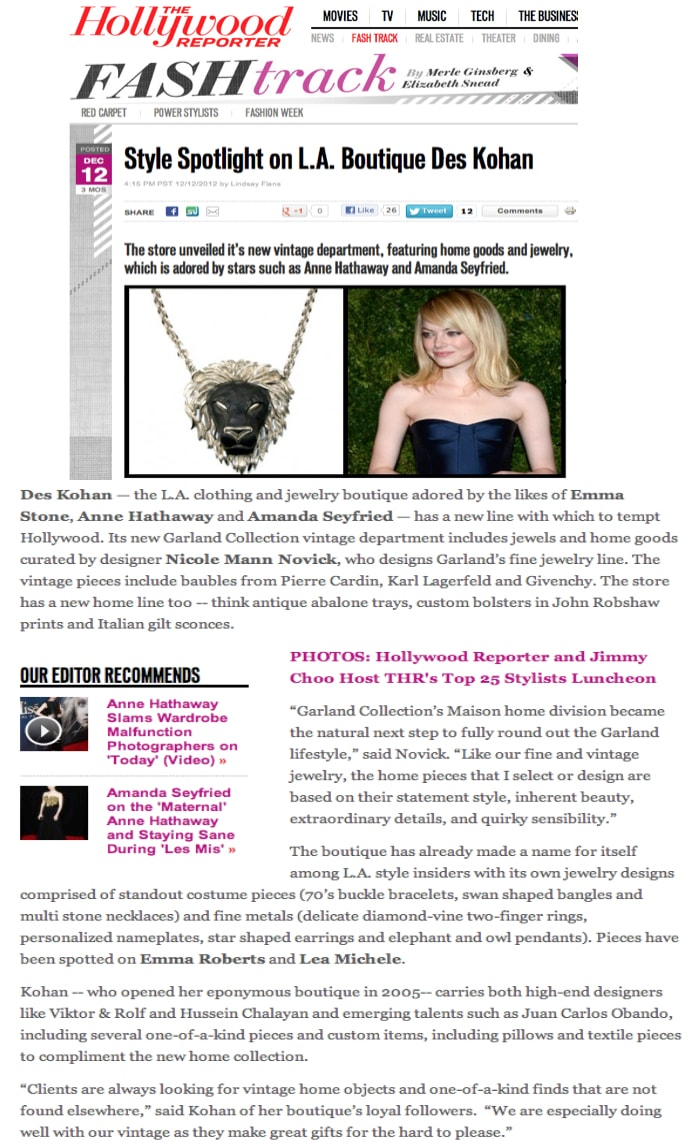 The Hollywood Reporter December 2012